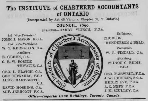 canadian institute chartered accountant